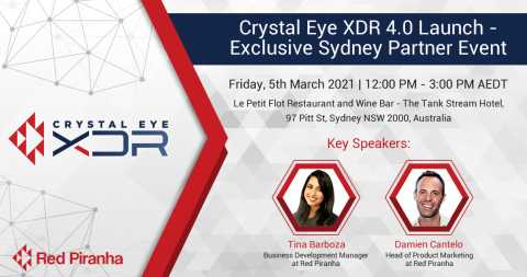Crystal Eye Partner Briefing and Networking - Sydney 5th March 2021